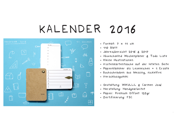 Calendar 2016 with WIKULLiL